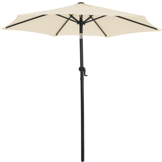 Sonnenschirm Beige Ø200cm UV-Schutz 40+