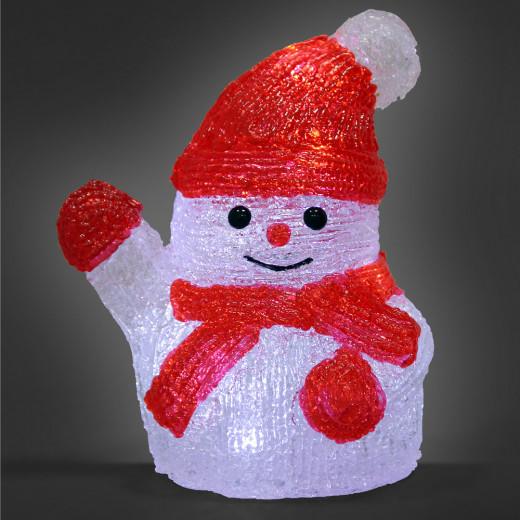 LED Acryl Figur Weihnachten Schneemann S