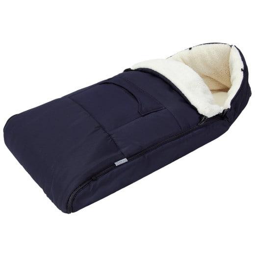 Babyfußsack Blau 90cm für Kinderwagen, Babyschale und Autositz