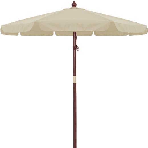 Sonnenschirm Holz Beige Ø330cm UV-Schutz 40+