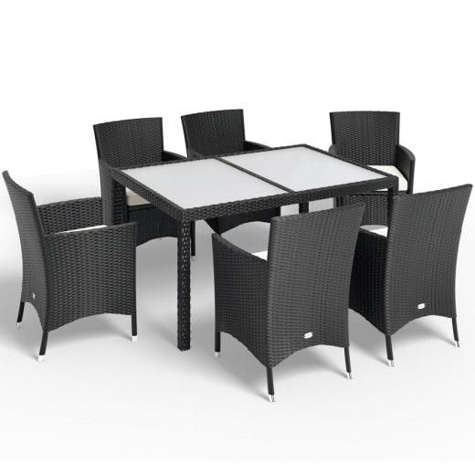 Poly Rattan Garden Furniture Set 13 Pcs Black