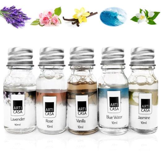 5 x 10ml Duftöl Lavendel - Ocean - Jasmin - Rose - Vanille
