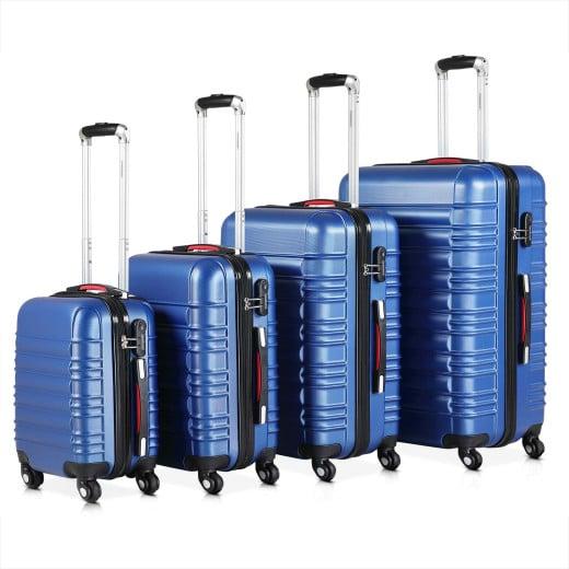 Koffer Hartschale 4 tlg. Navy S/M/L/XL aus ABS 34l, 55l, 84l, 120l