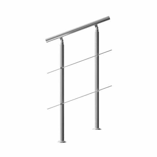 Treppengeländer Edelstahl 80cm 2 Streben