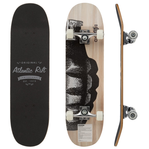 Skateboard - ABEC 9 Lager - PU Dämpfer + PU Rollen - Natur