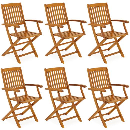 Gartenstühle Boston 6er-Set Akazienholz klappbar