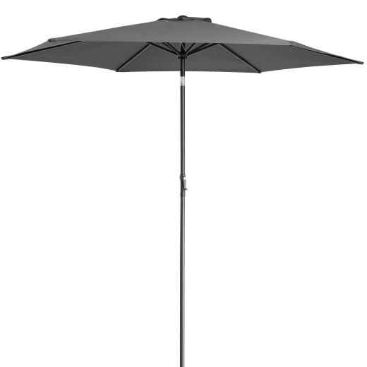 Sonnenschirm Anthrazit Alu Ø300cm UV-Schutz 40+