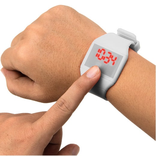LED Armbanduhr mit Touchscreen Weiß