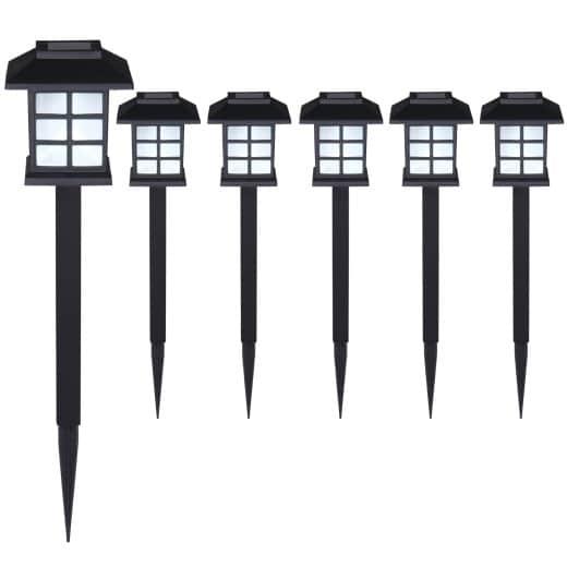 LED Solarleuchten 6er-Set Schwarz
