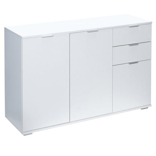 """Sideboard """"Alba"""" in Weiß mit 3 Türen und Schubladen Typ DB131"""