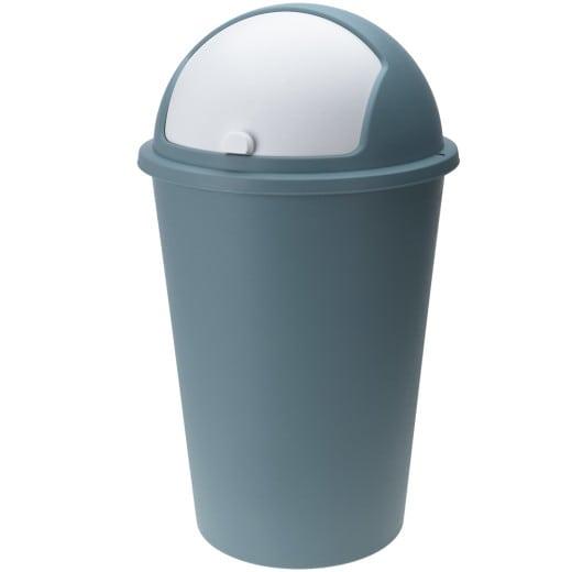 Mülleimer Taubenblau Kunststoff 50L