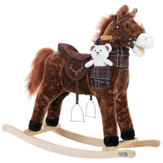 Schaukeltier Pferd Braun mit Geräuschfunktion