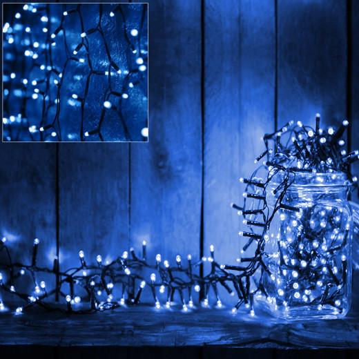 Lichterkette 6m mit 100 LEDs mit Timer und Controller Blau